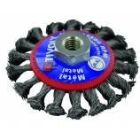 Cepillo cónico TECHNIC | Hilo acero trenzado | Gran decapado del metal TECHNIC (Blíster)