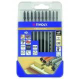 10 wood metal blades -TECHNIC