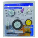 7 pieces -5 brushes + 2 grinding stones