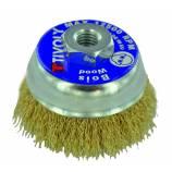 Cepillo copa TECHNIC | Hilo acero latonado | Decapado de madera, latón, cobre TECHNIC (Estuche blíster)