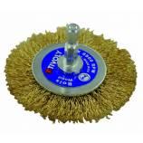 TECHNIC wheel brush | Brass steel wire | Wood, brass, cooper stripping TECHNIC (Blister Box)
