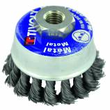 CUP BRUSH TECHNIC | for angle grinder,  knotted wire, metal stripping