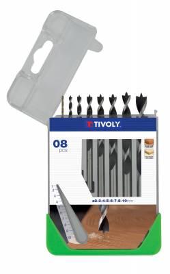 8 brad point drills SLR graduated Ø 2 to 10mm -ESSENTIAL