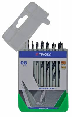 8 brad point drills Ø 2 to 10mm -ESSENTIAL