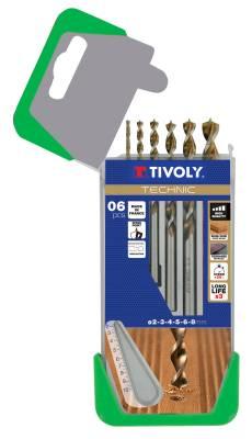 6 drills wood speed point Ø 2 to 8mm -TECHNIC