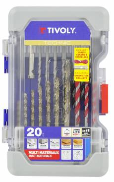 20 pieces -Multi-material mixed drills