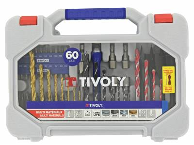 60 pieces -For multi-material drilling and screwing