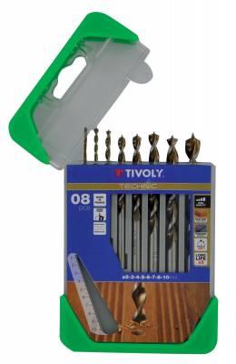 8 drills wood speed point Ø 2 to 10mm -TECHNIC