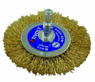 Cepillo circular TECHNIC | Hilo acero latonado | Decapado de madera, latón, cobre TECHNIC (Estuche blíster)