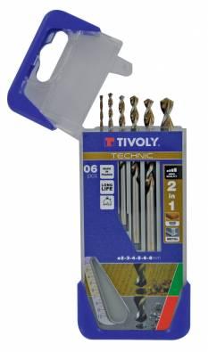 6 drills 2in1 wood metal HSS Ø 2 to 8mm -TECHNIC