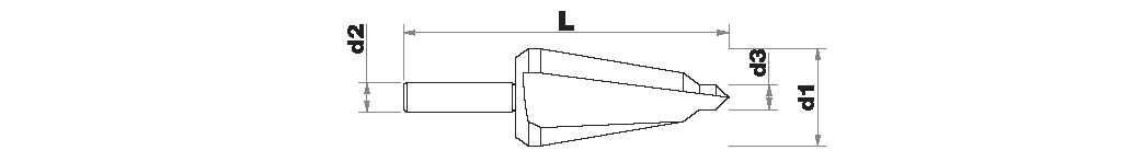 Foret conique lisse HSS -Queue cylindrique ESSENTIAL (Blister)