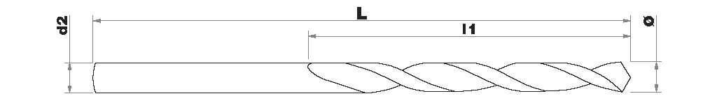 Foret métaux HSS E5% cobalt -Pointe en croix -Gradué SLR TECHNIC (Etui plastique)