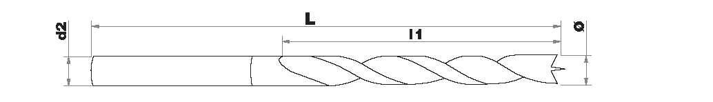 TECHNIC | Brad point wood drill L250 | Cylindrical shank TECHNIC (Plastic sleeve)
