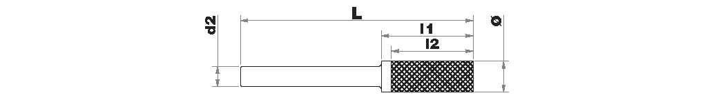 Fresa lima metal duro   Cilíndrica con radio   Forma D rompevirutas TECHNIC (Caja colgante)